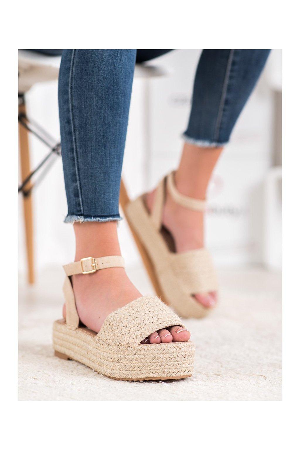 Hnedé sandále Weide kod Q738BE