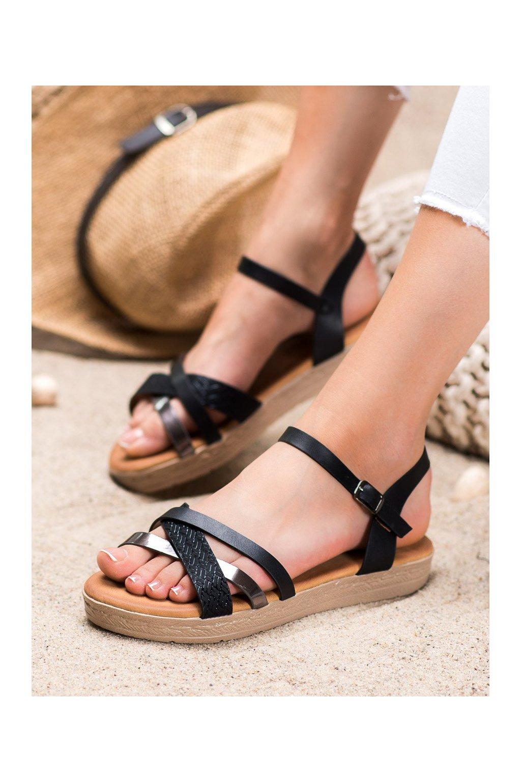 Čierne sandále Weide kod Y609B