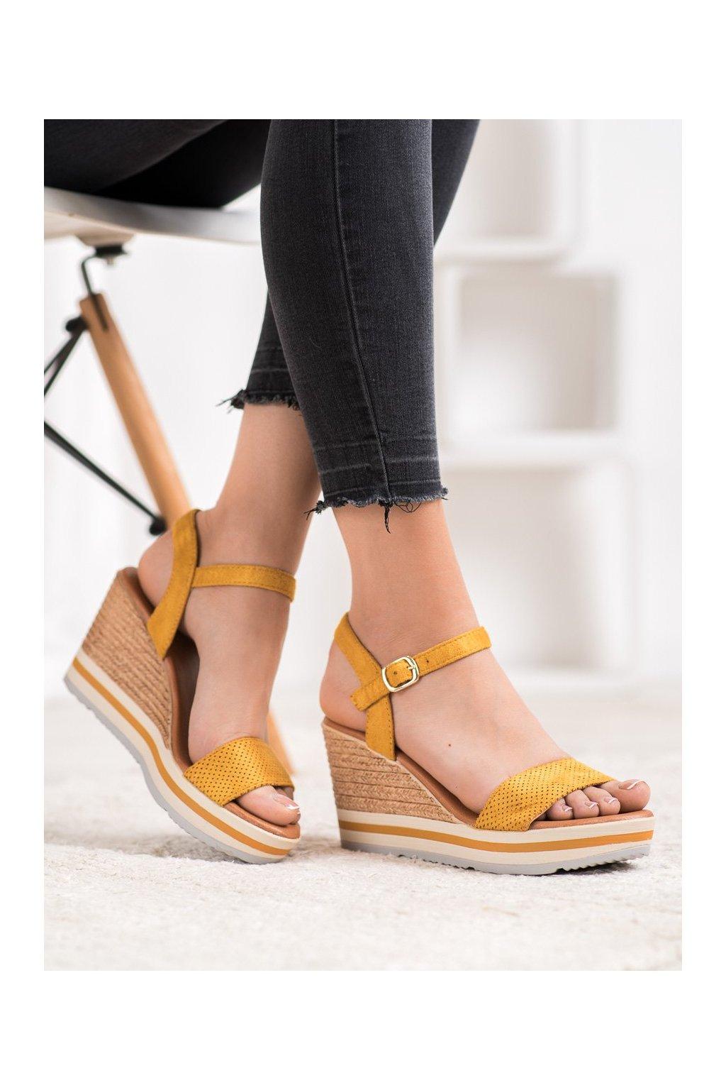 Žlté sandále Weide kod HL71-35Y