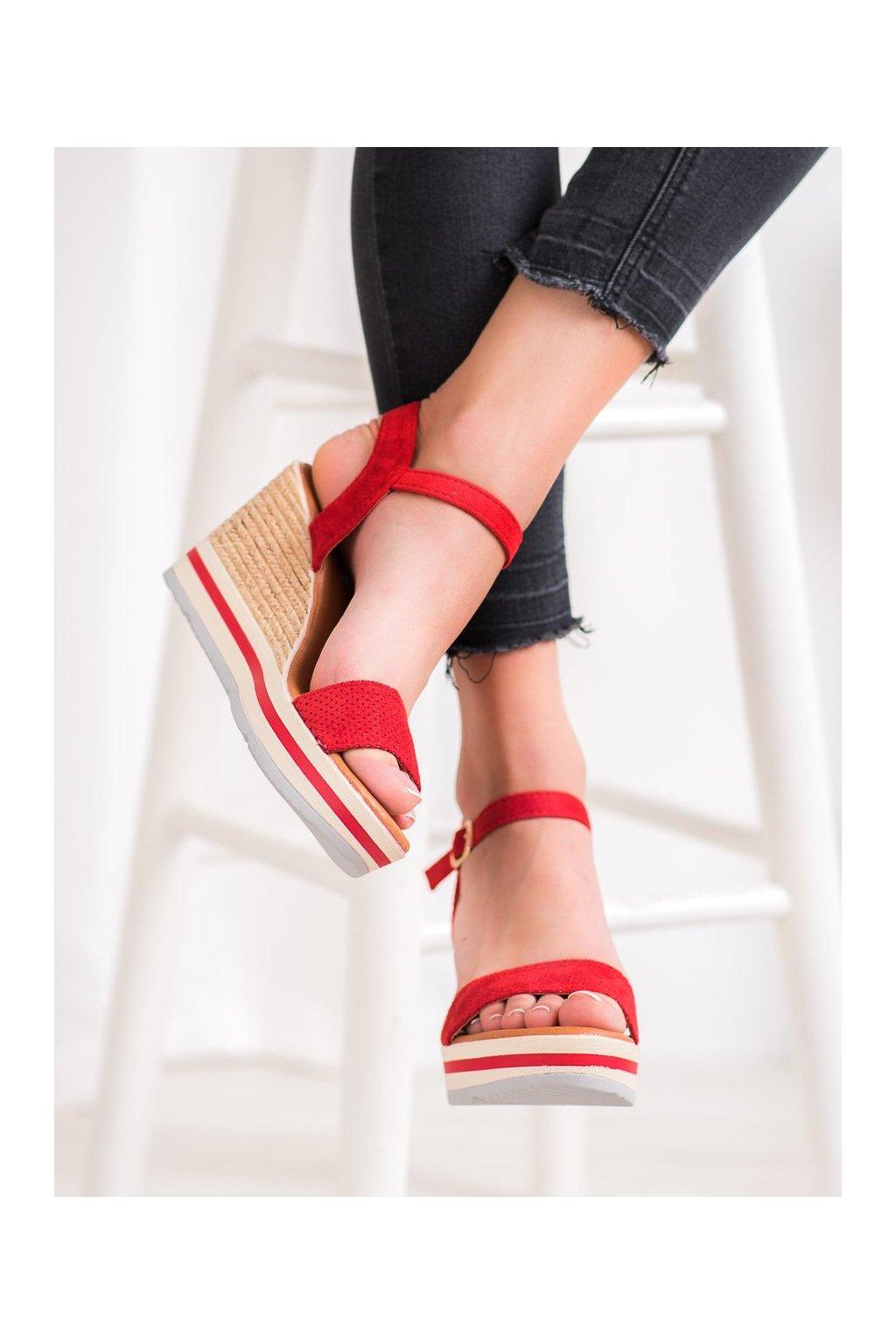Červené sandále na platforme Weide kod HL71-35R