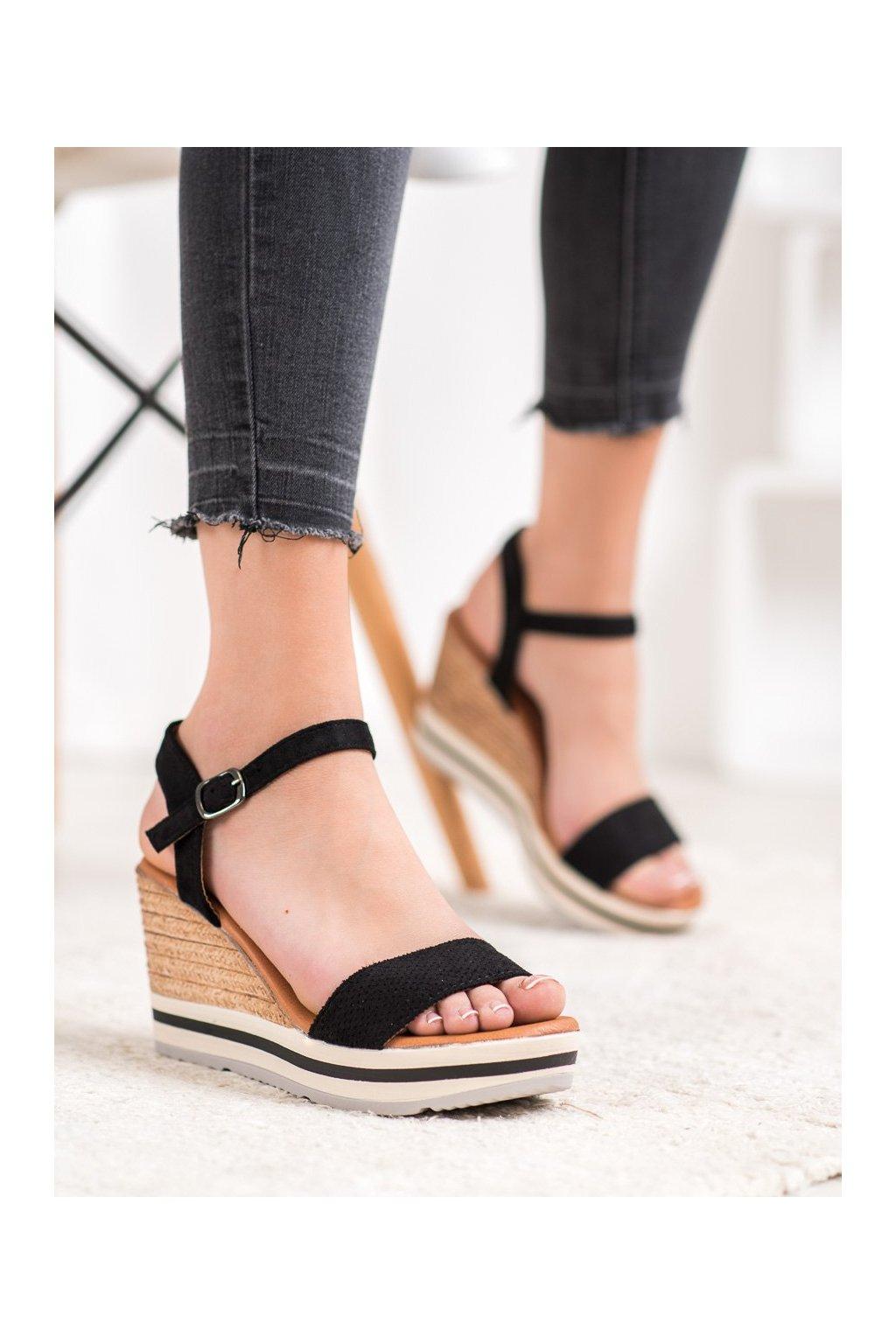 Čierne sandále Weide kod HL71-35B