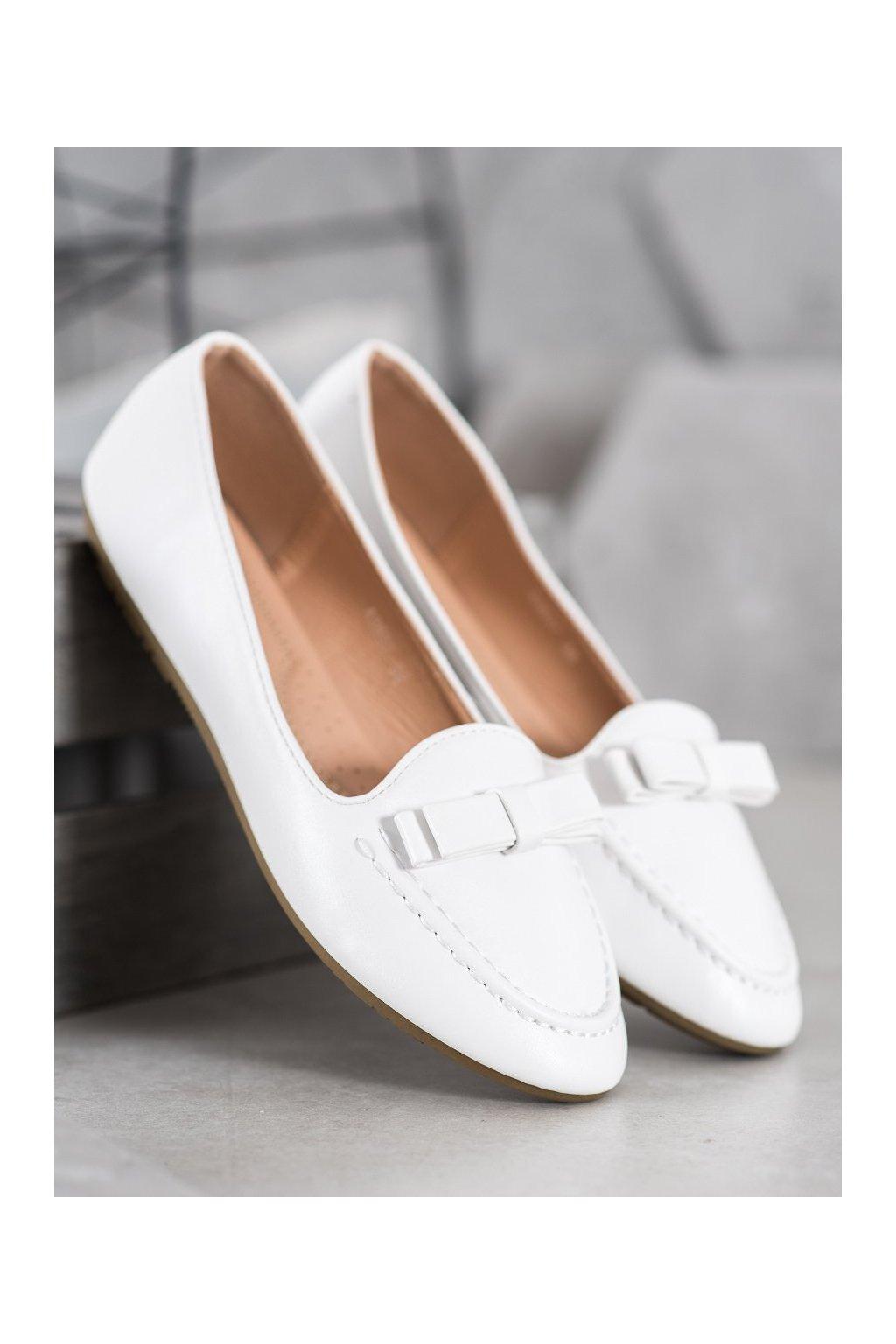 Biele dámske balerínky Shelovet kod A8637W