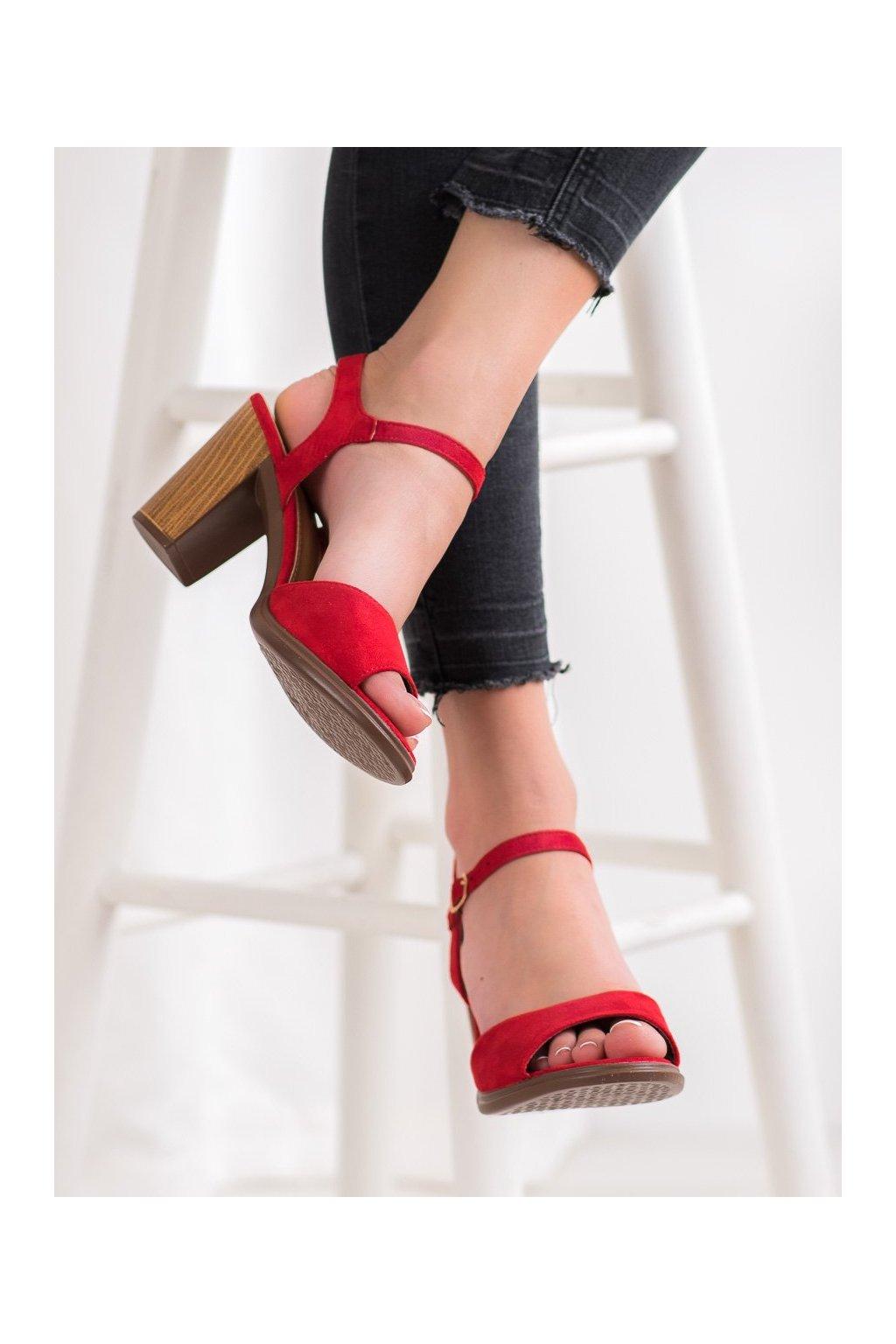 Červené sandále Shelovet kod 660-6R