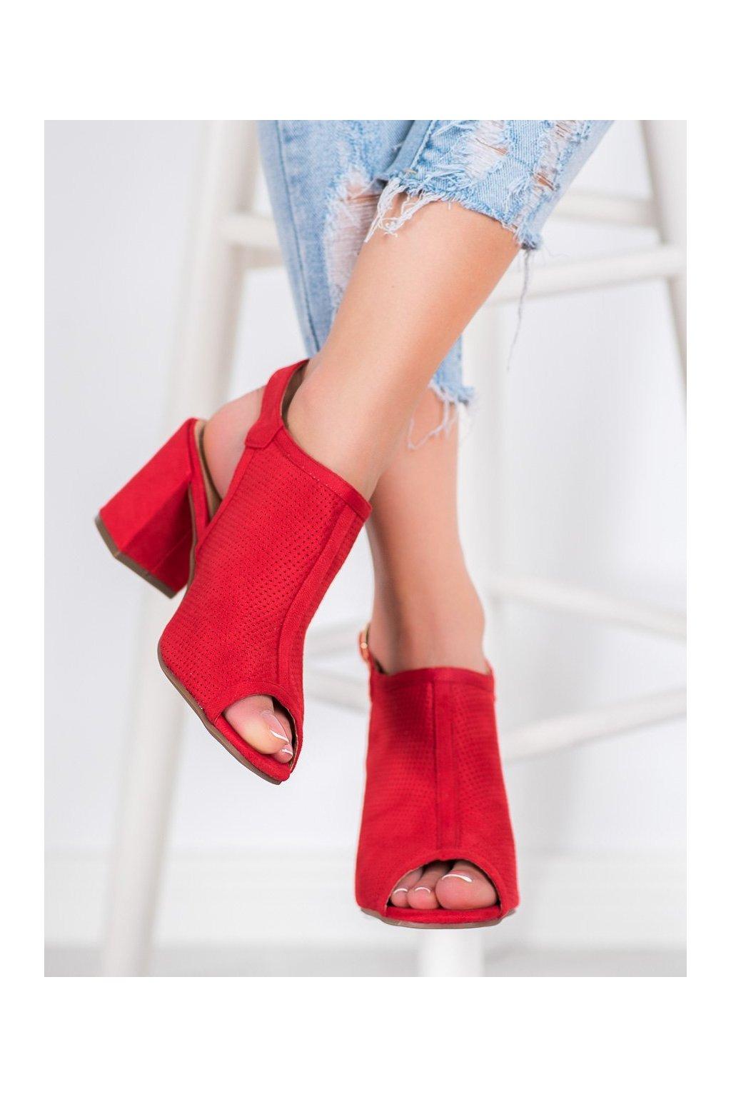 Červené sandále Shelovet kod 9283ROJO