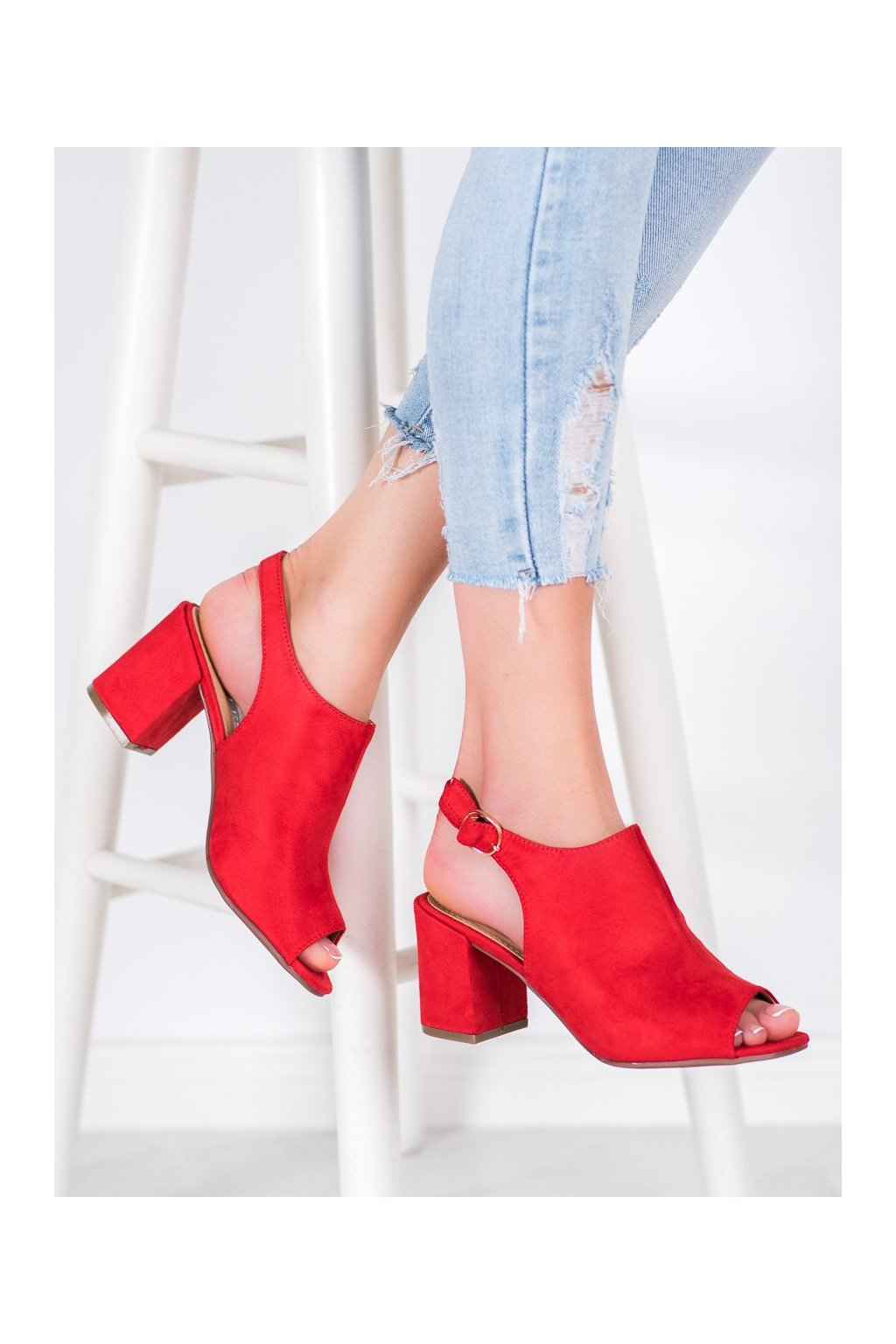 Červené sandále Shelovet kod Z09R