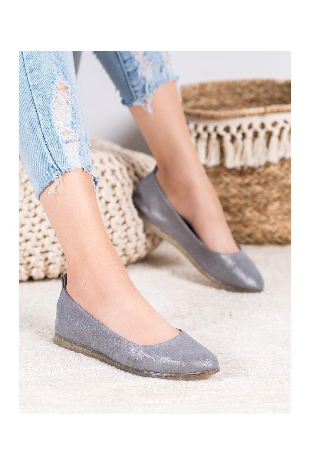Sivé topánky Sergio leone kod BL602-02G