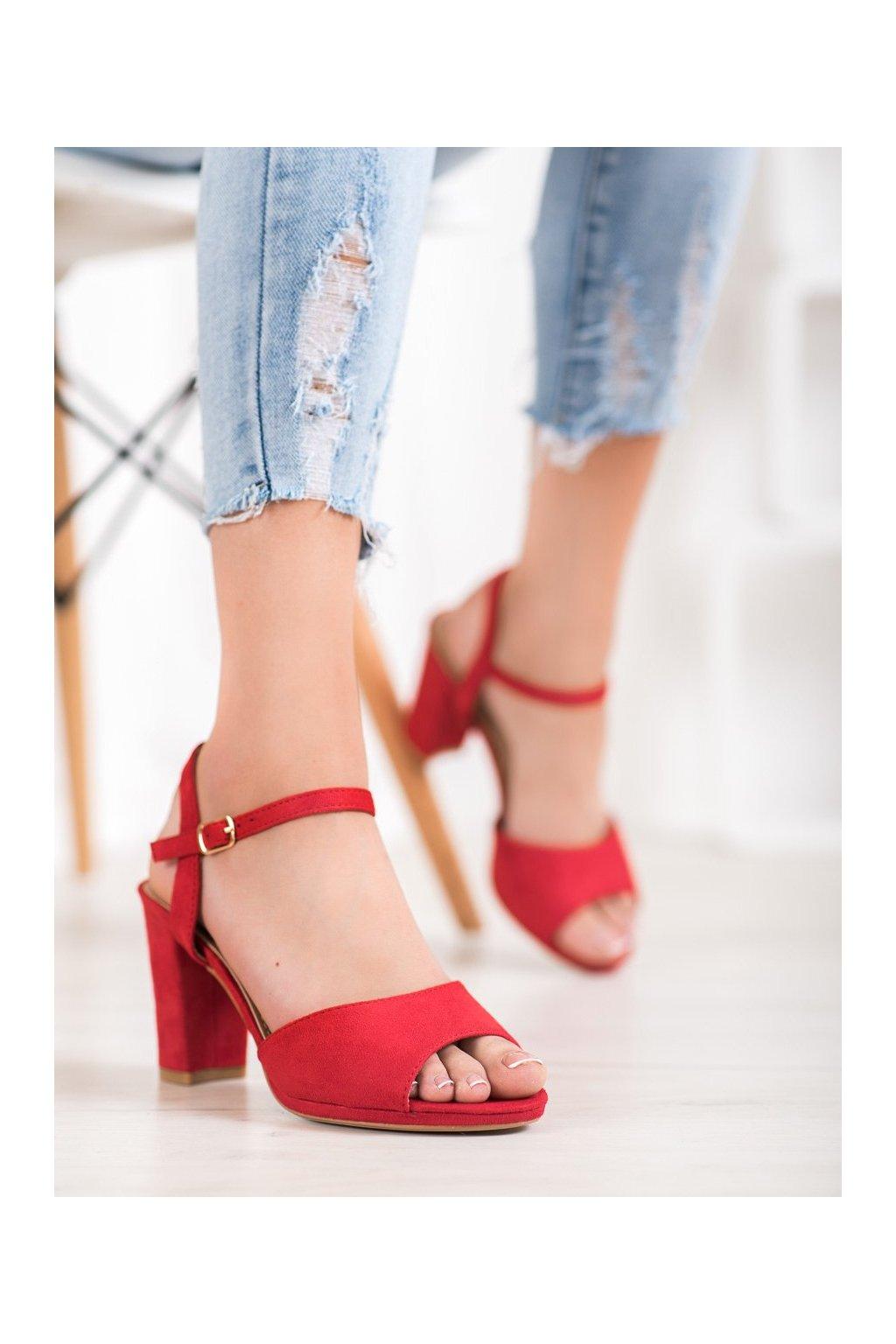 Červené sandále Shelovet kod 955-47R