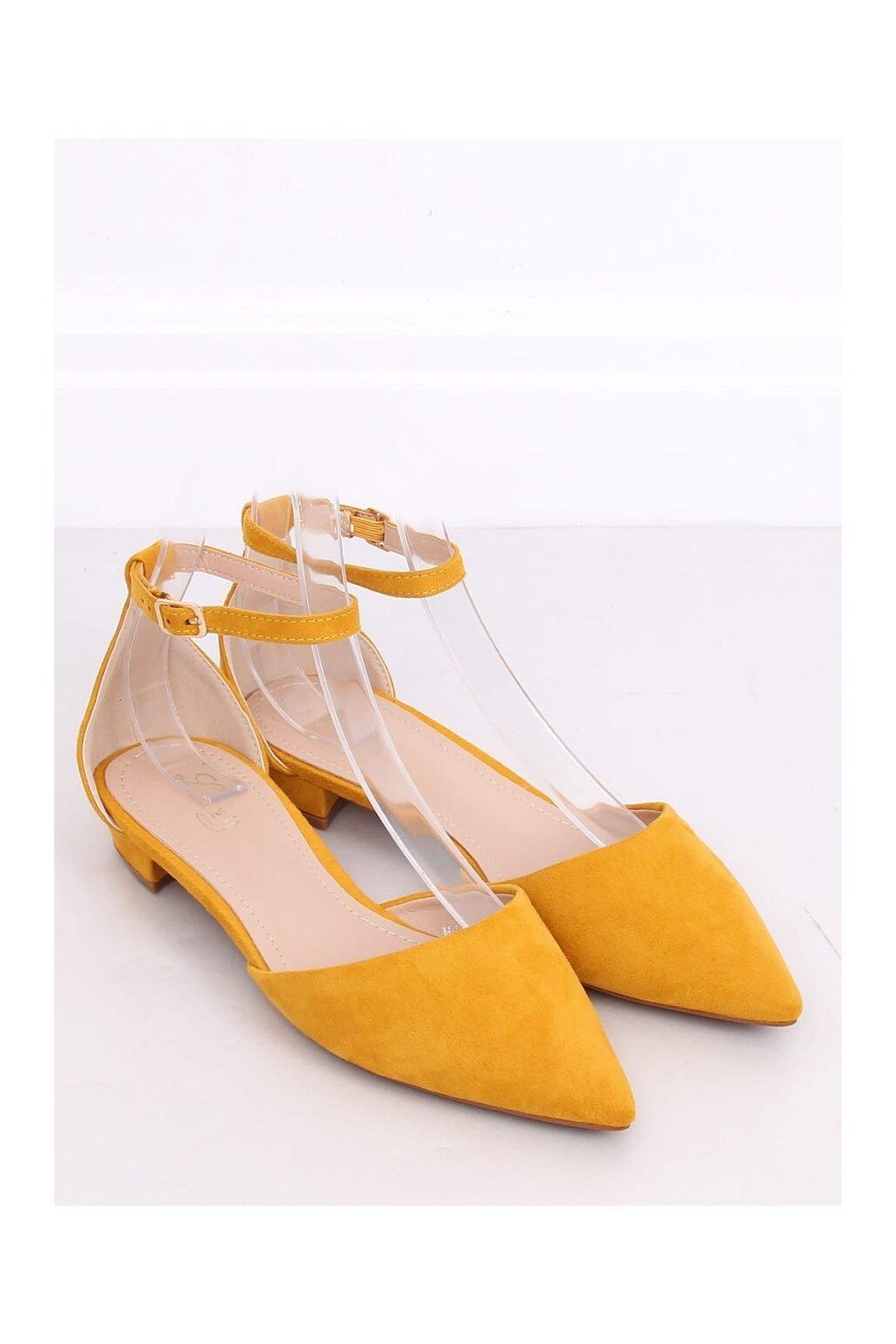 Dámske baleríny žlté NJSK MM-795