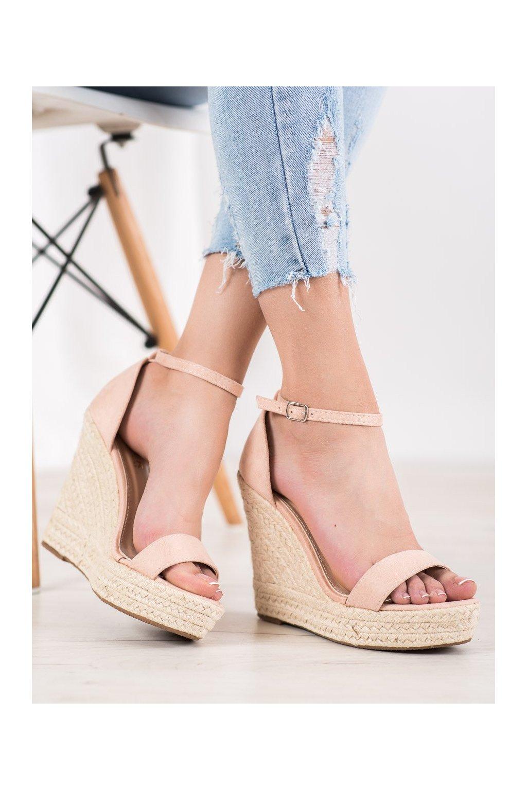 Ružové sandále Shelovet NJSK NGSJ-3BE