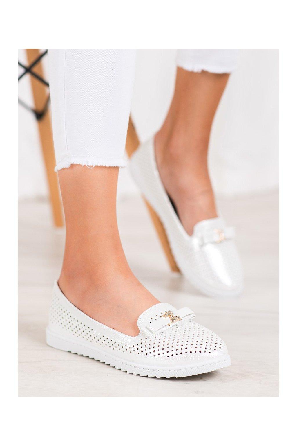 Biele dámske balerínky Weide NJSK Q721W