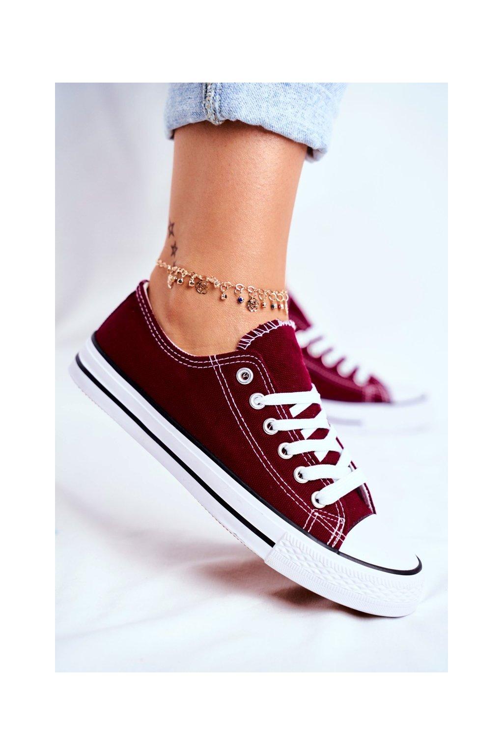 Dámske tenisky farba červená kód obuvi XL03 WINE