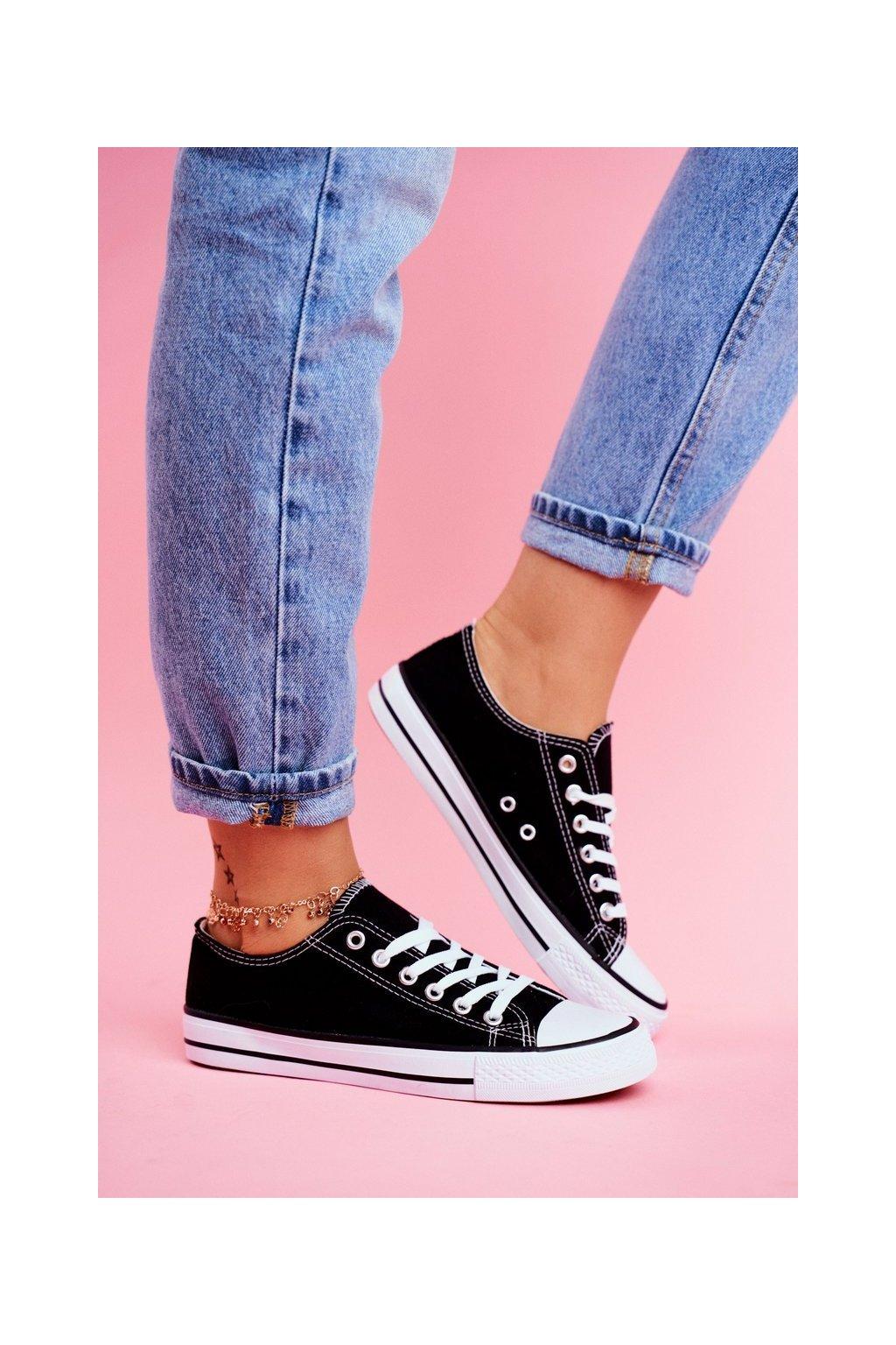 Dámske tenisky farba čierna kód obuvi XL03 BLACK/WHITE