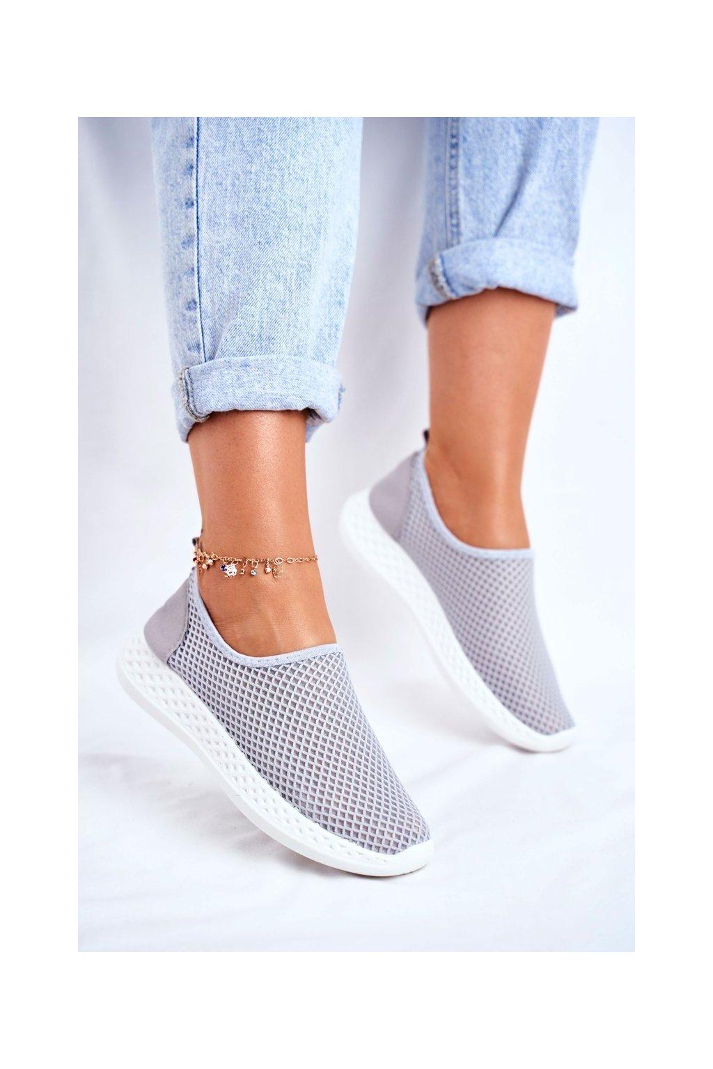 Dámska športová obuv Slip-on sivé Gestacio