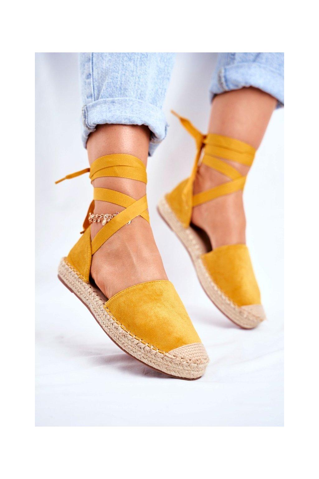 Dámske tenisky farba žltá kód obuvi LL-230P YELLOW