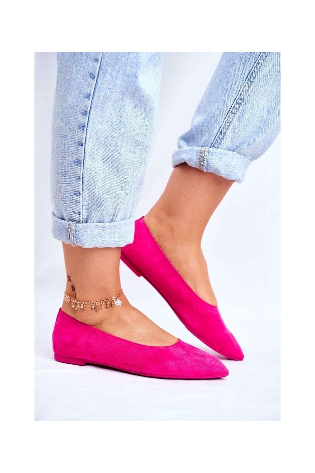 Dámske balerínky farba ružová kód obuvi NK19P FUCHSIA