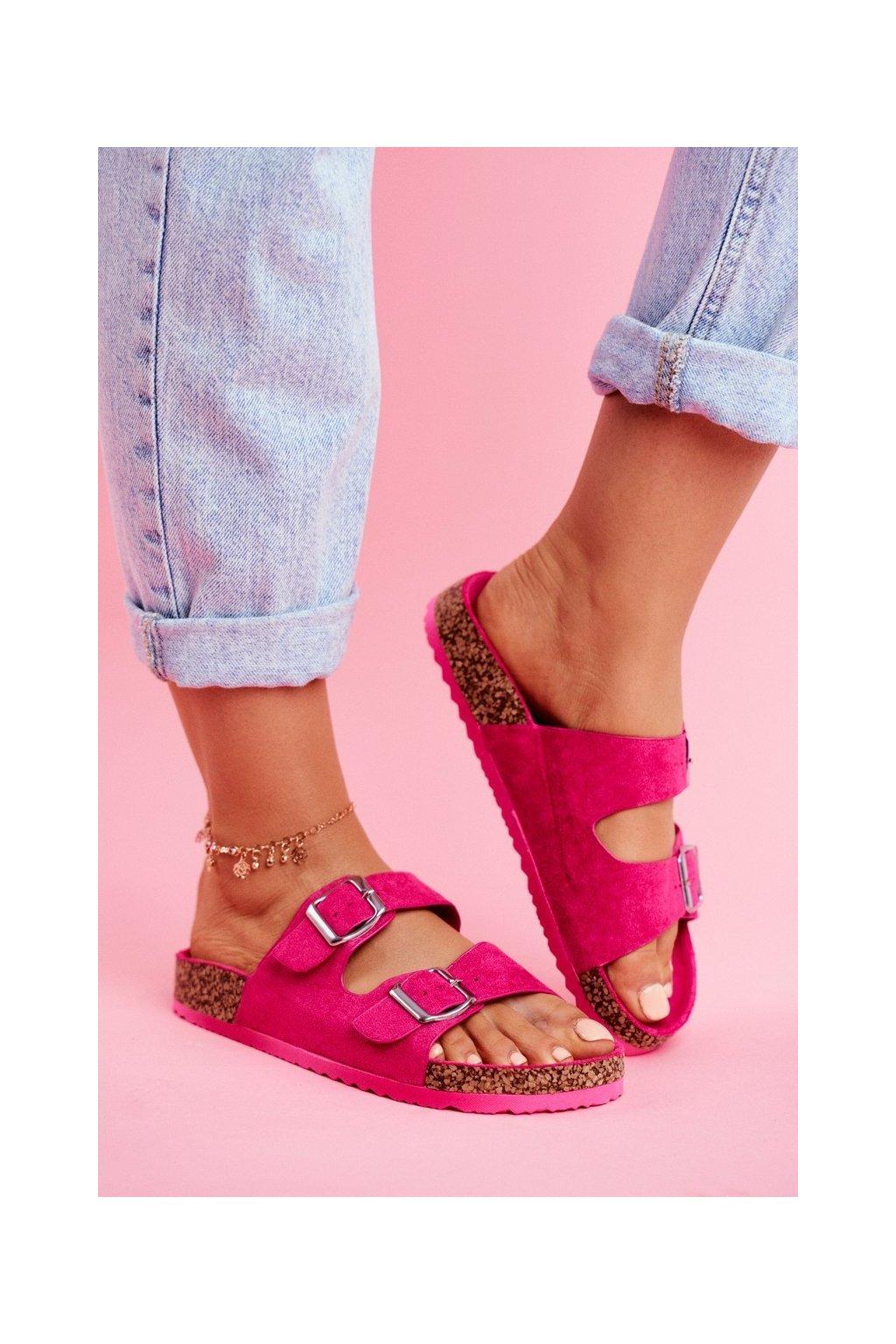 Dámske šľapky farba ružová kód obuvi 20SD21-1732 FUCHSIA