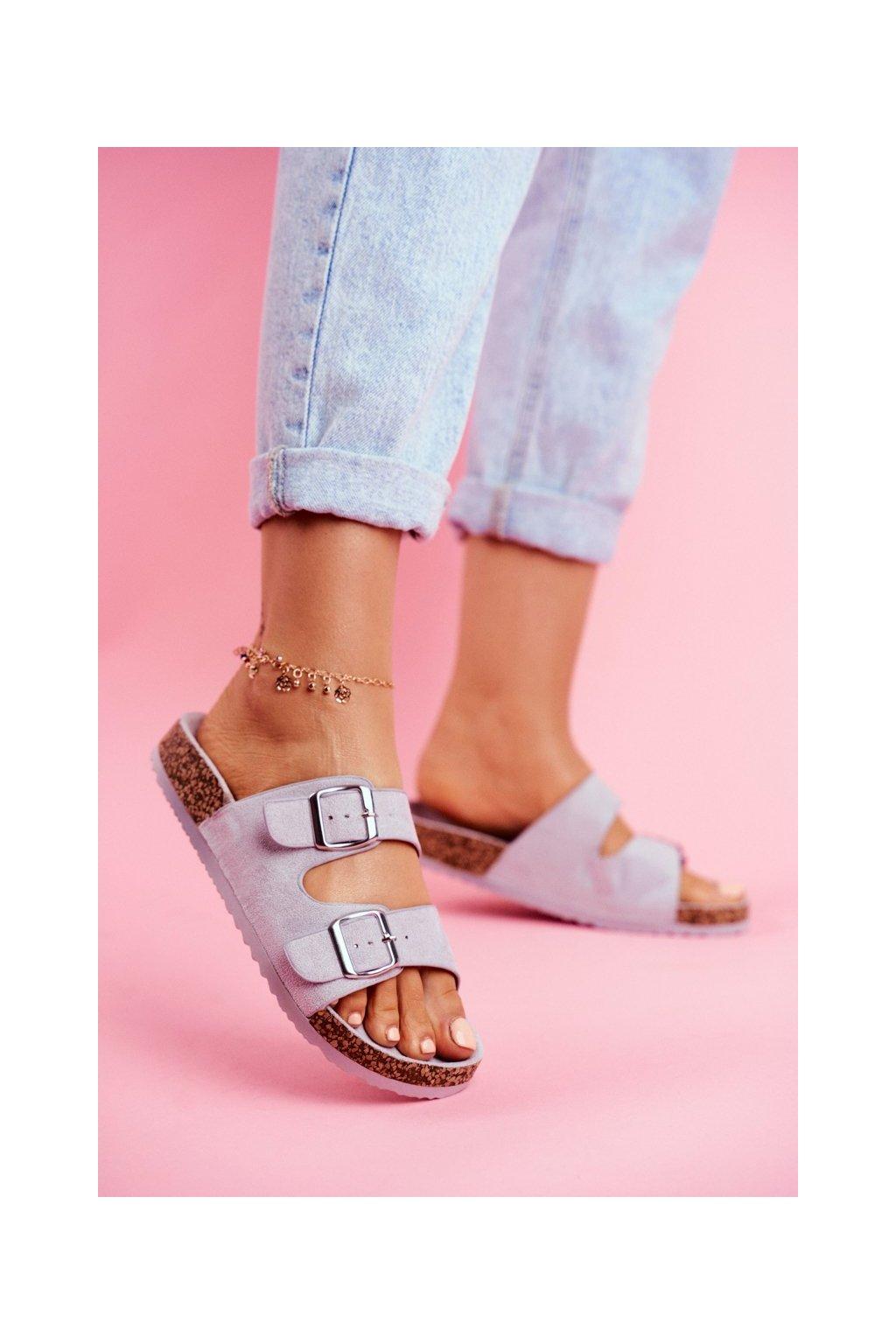Dámske šľapky farba sivá kód obuvi 20SD21-1732 GREY