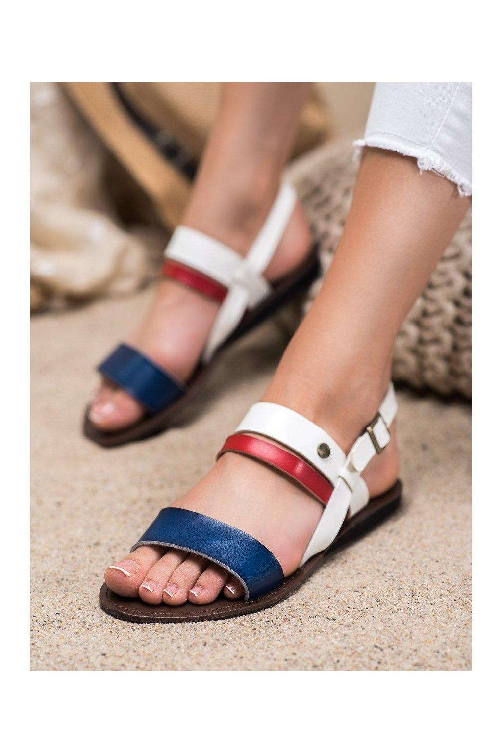 Viacfarebné sandále s plochou podrážkou Evento kod 20SD77-1942W/N