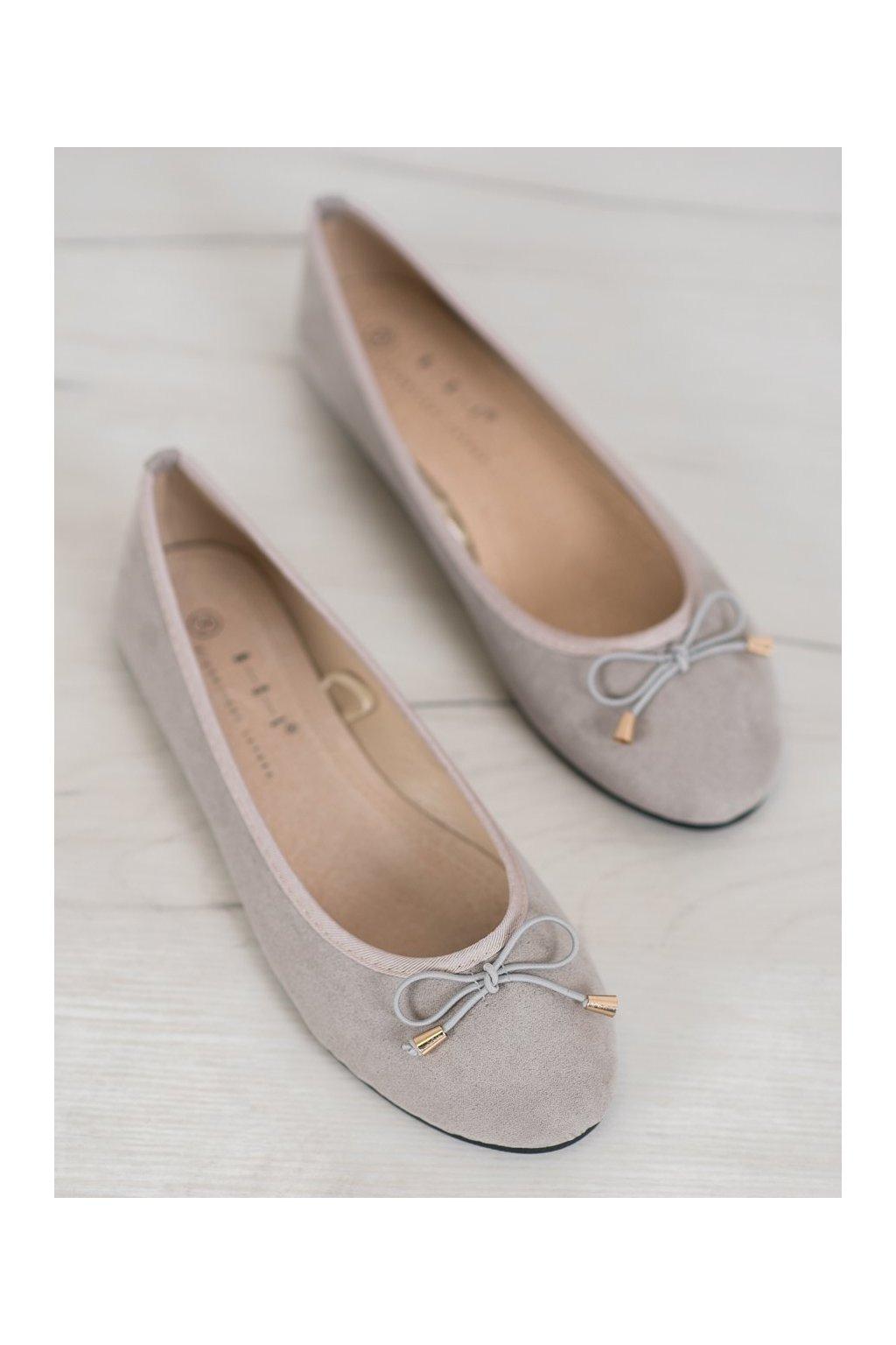 Sivé dámske balerínky Shelovet kod BLB20-1G