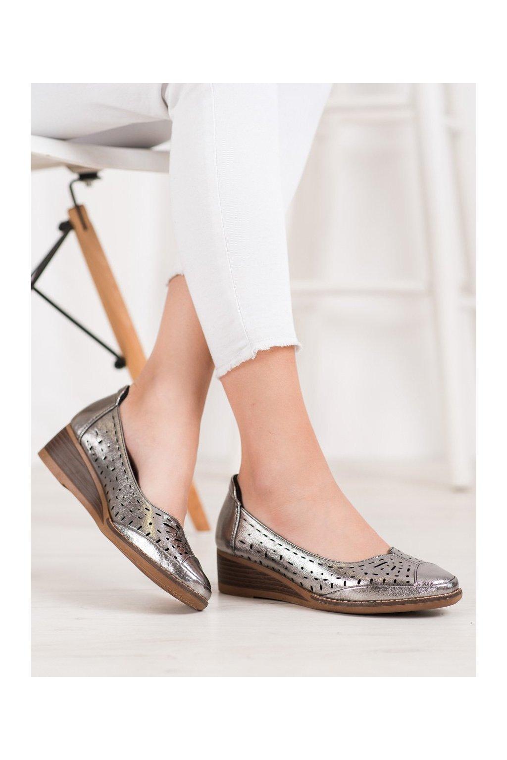 Sivé topánky Vinceza kod XY20-10520GUN