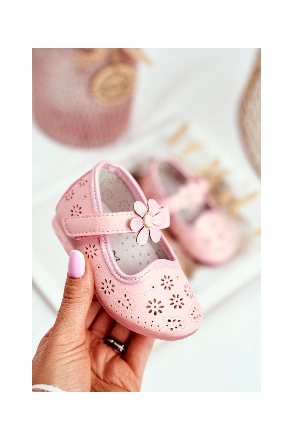 Detské balerínky farba ružová kód obuvi HC607 PINK