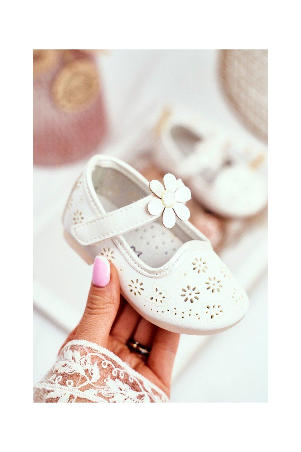 Detské balerínky farba biela kód obuvi HC607 WHITE