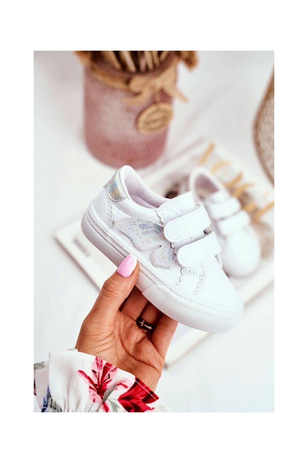 Detské tenisky farba biela kód obuvi XC32 SILVER