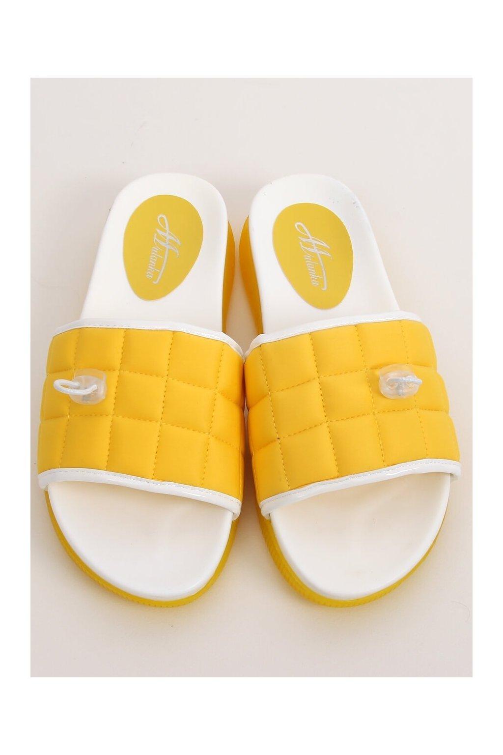 Damske šľapky žlté G-338