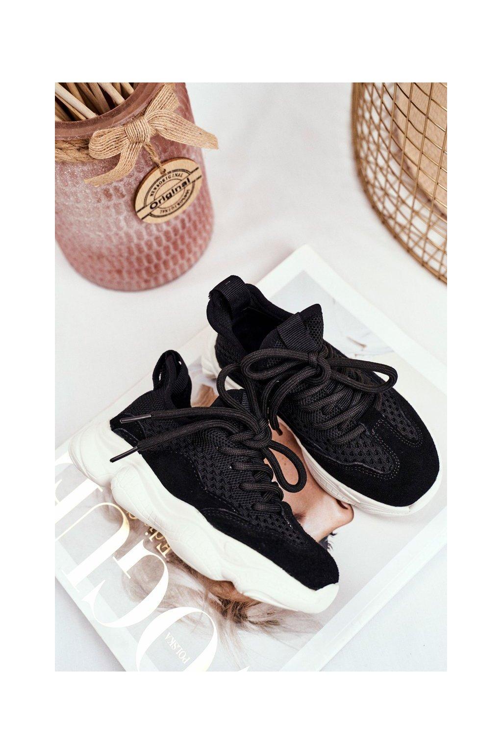 Detské tenisky farba čierna kód obuvi I031 BLK