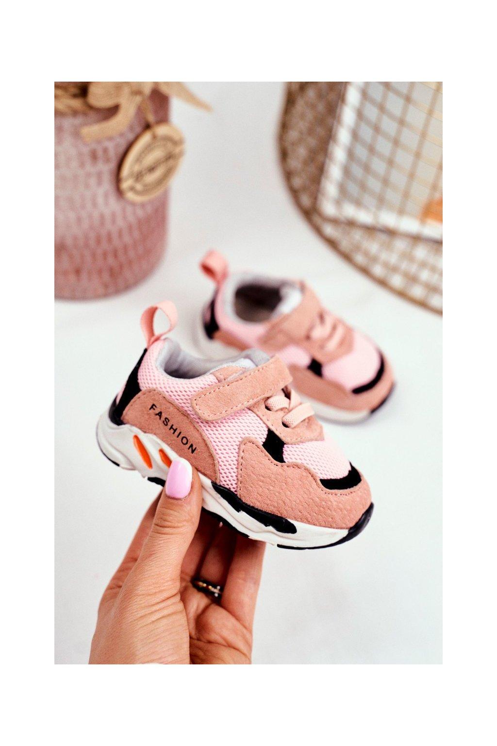 Detské tenisky farba ružová kód obuvi KC29 PINK