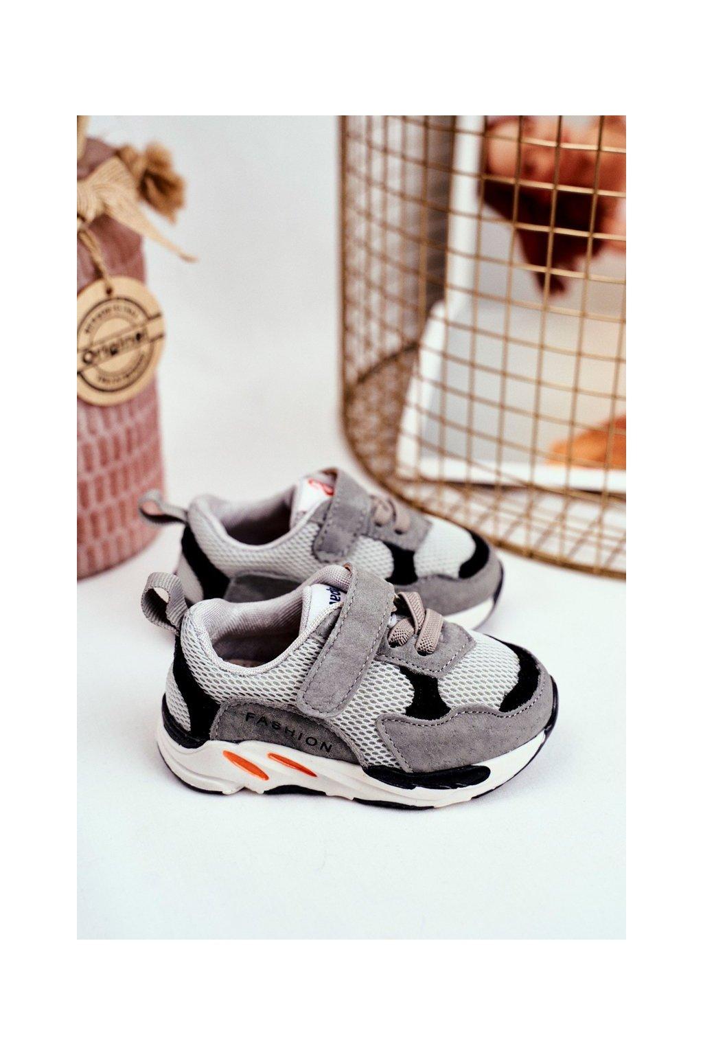 Detské tenisky farba sivá kód obuvi KC29 GREY