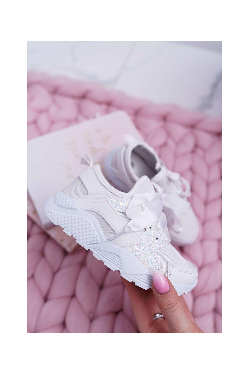 Športová obuv Detská Mládež biele Bajka NJSK 1357-3B