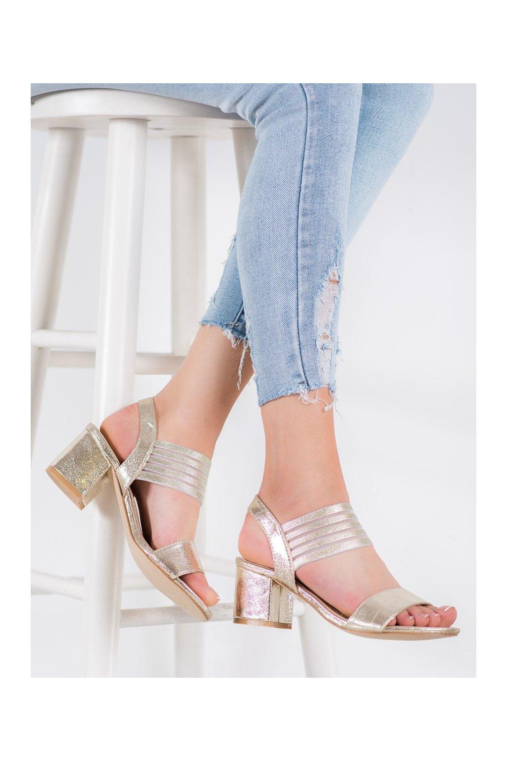 Žlté sandále Small swan NJSK LT18GO