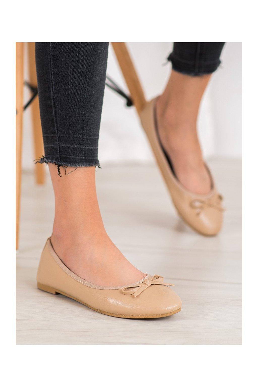 Hnedé dámske balerínky Shelovet kod BLB19-0132BE