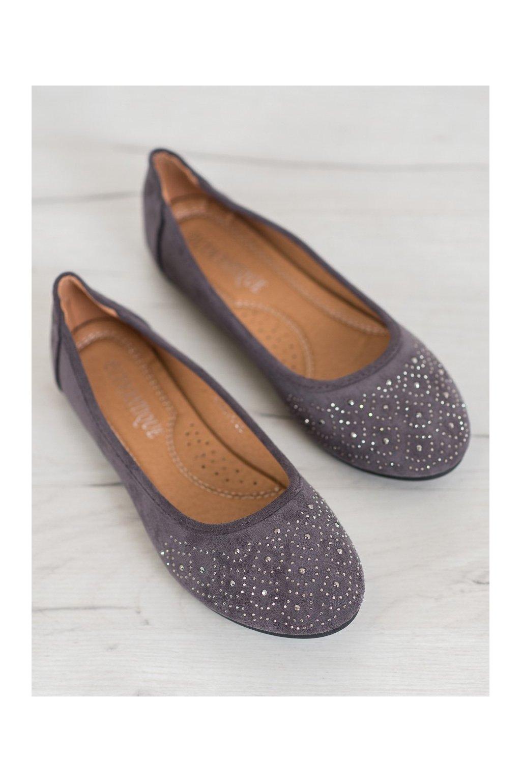 Sivé dámske balerínky Diamantique kod YSD811G
