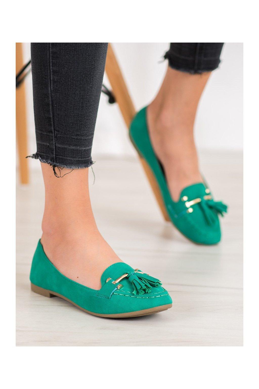 Zelené topánky Nio nio kod 99-08A-GR