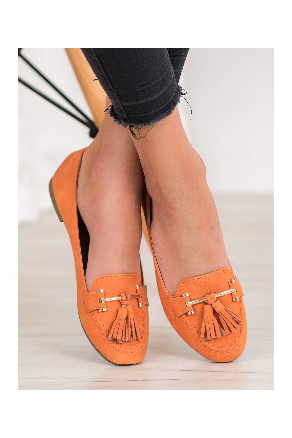 Oranžové topánky Nio nio kod 99-08A-OR