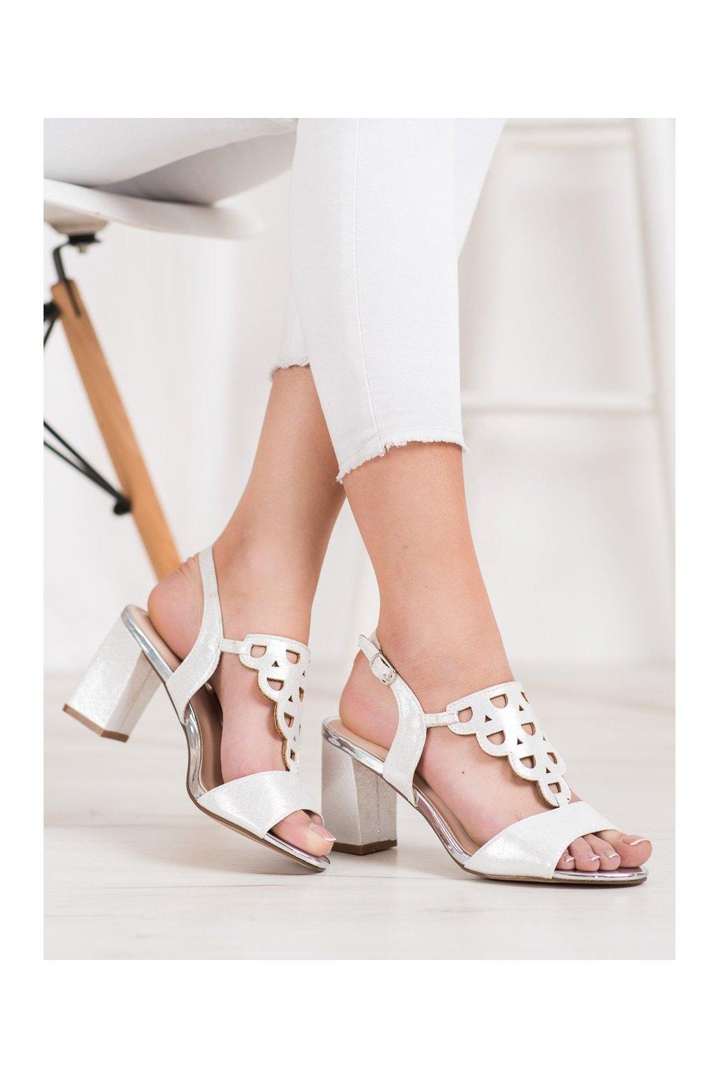 Sivé sandále na podpätku Vinceza kod YQE20-17080S