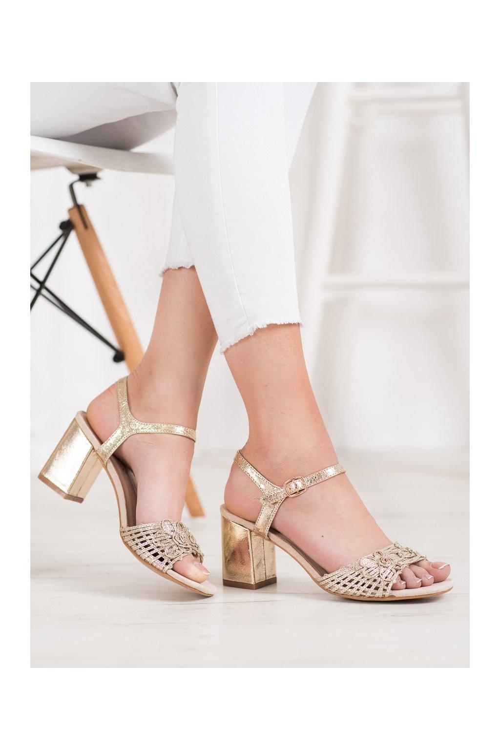 Žlté topánky Vinceza kod YQE20-17060GO