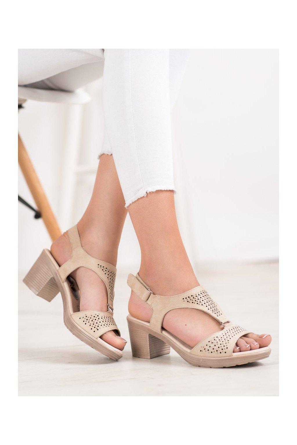Hnedé sandále Shelovet kod B119-06-01BE