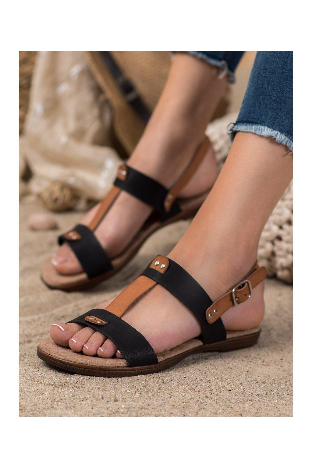 Čierne sandále Evento kod 20SD35-0307B/BR