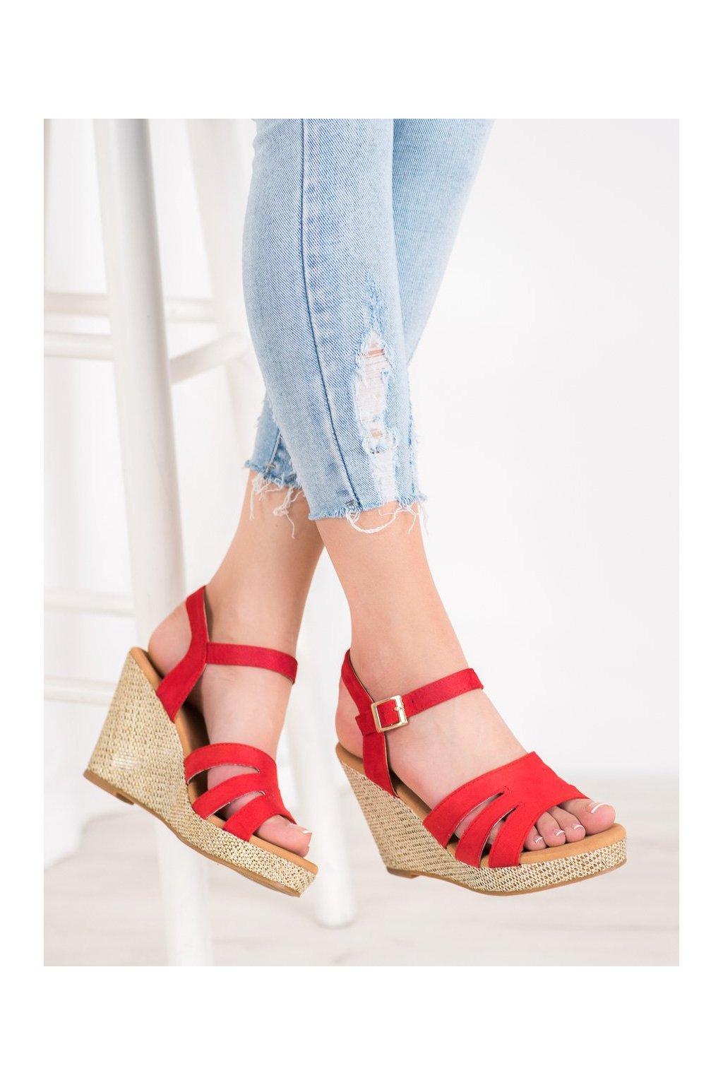 Červené sandále Small swan NJSK BL-20R
