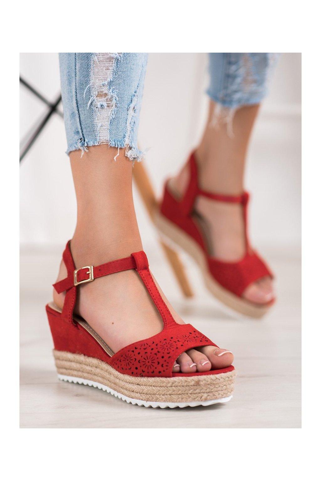 Červené sandále Small swan kod BL-19R