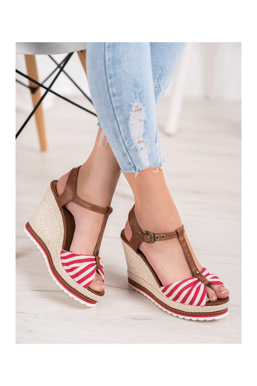 Červené sandále Shelovet kod NK110R