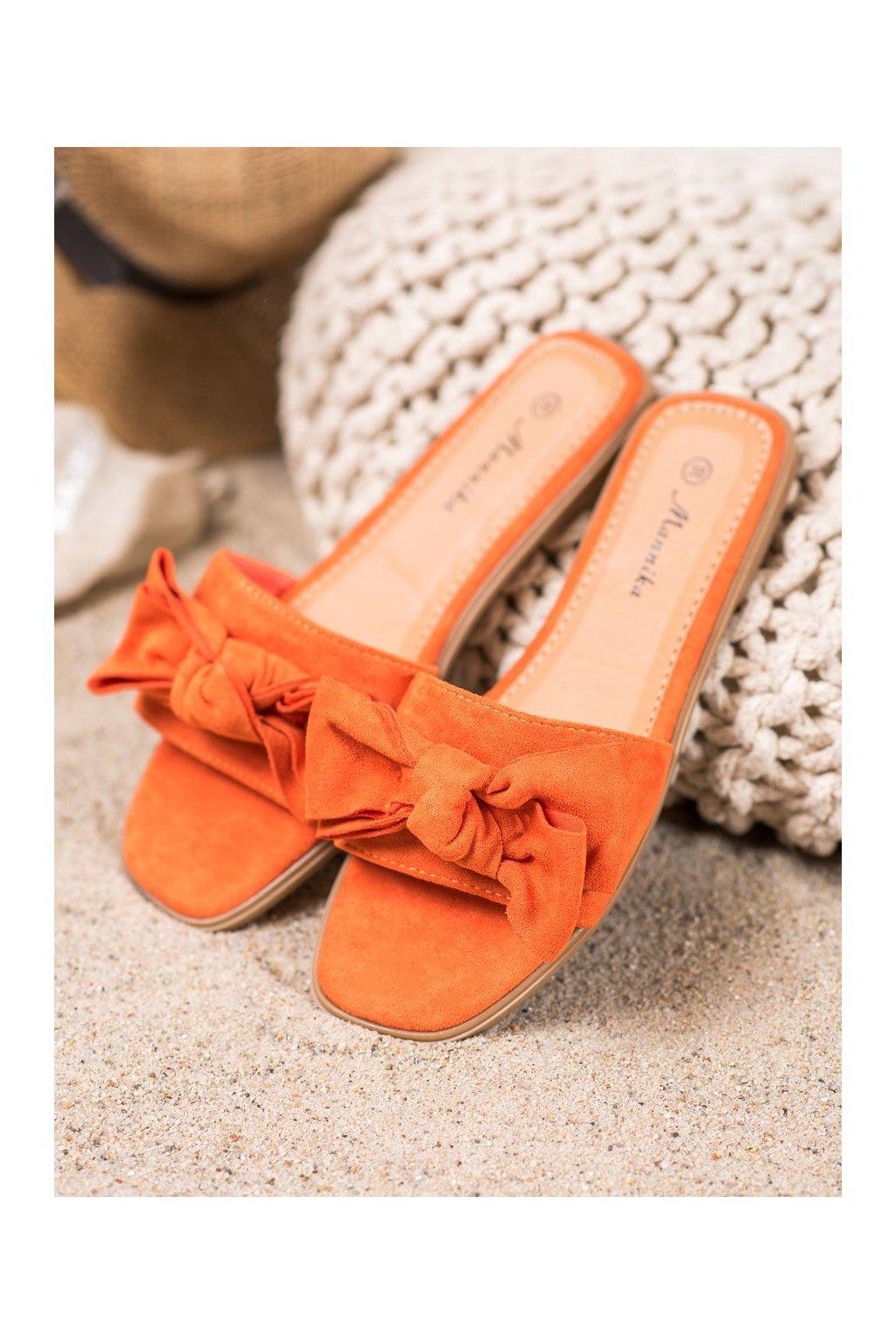 Oranžové šľapky Mannika kod WL1607OR