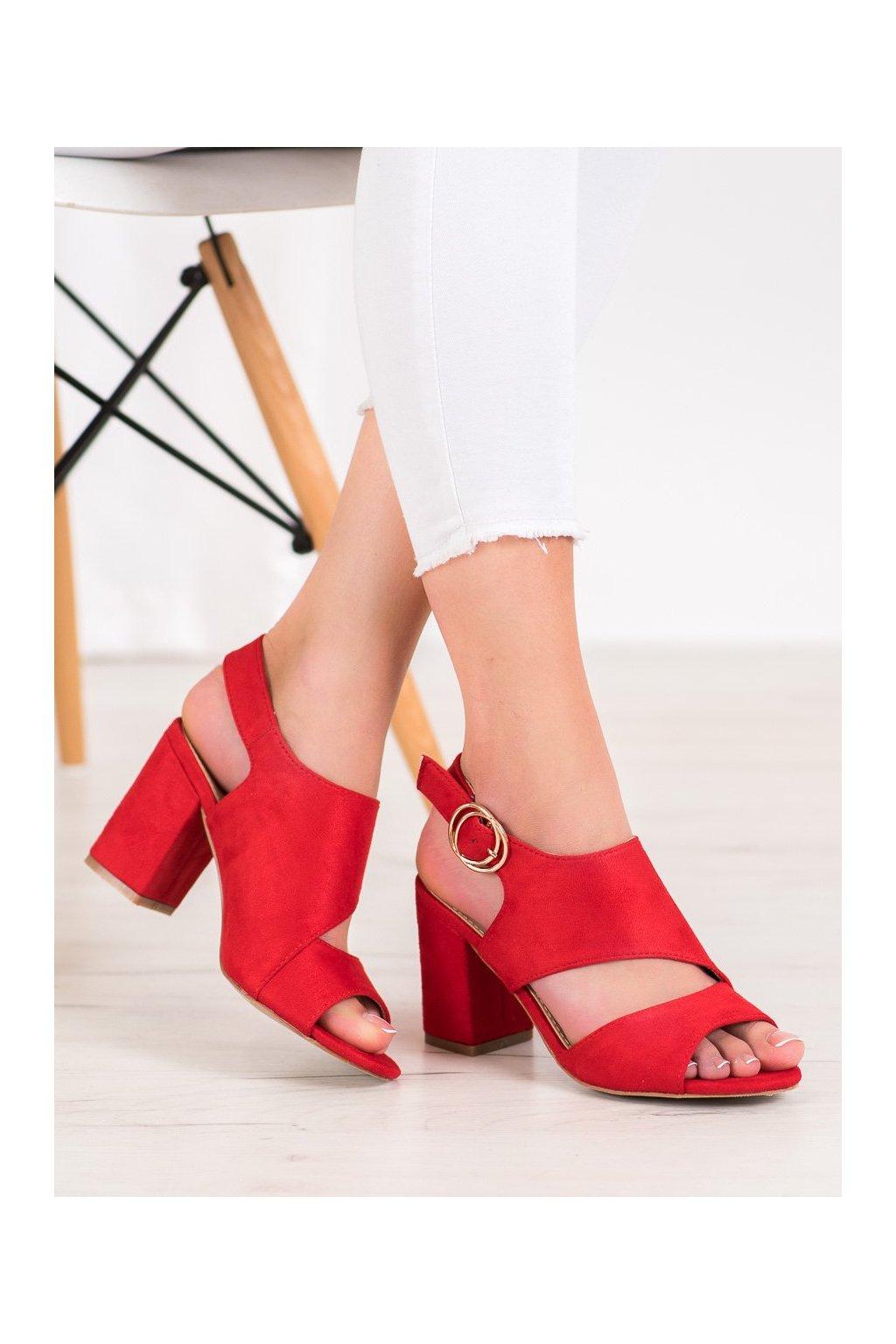 Červené sandále Mannika kod A8560R