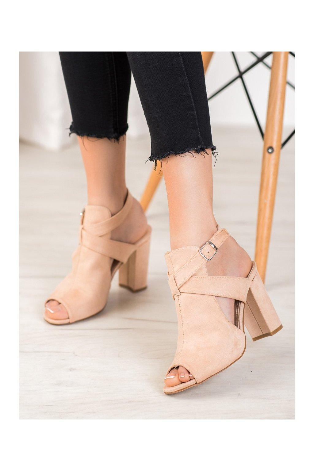 Hnedé sandále Seastar NJSK NS110BE