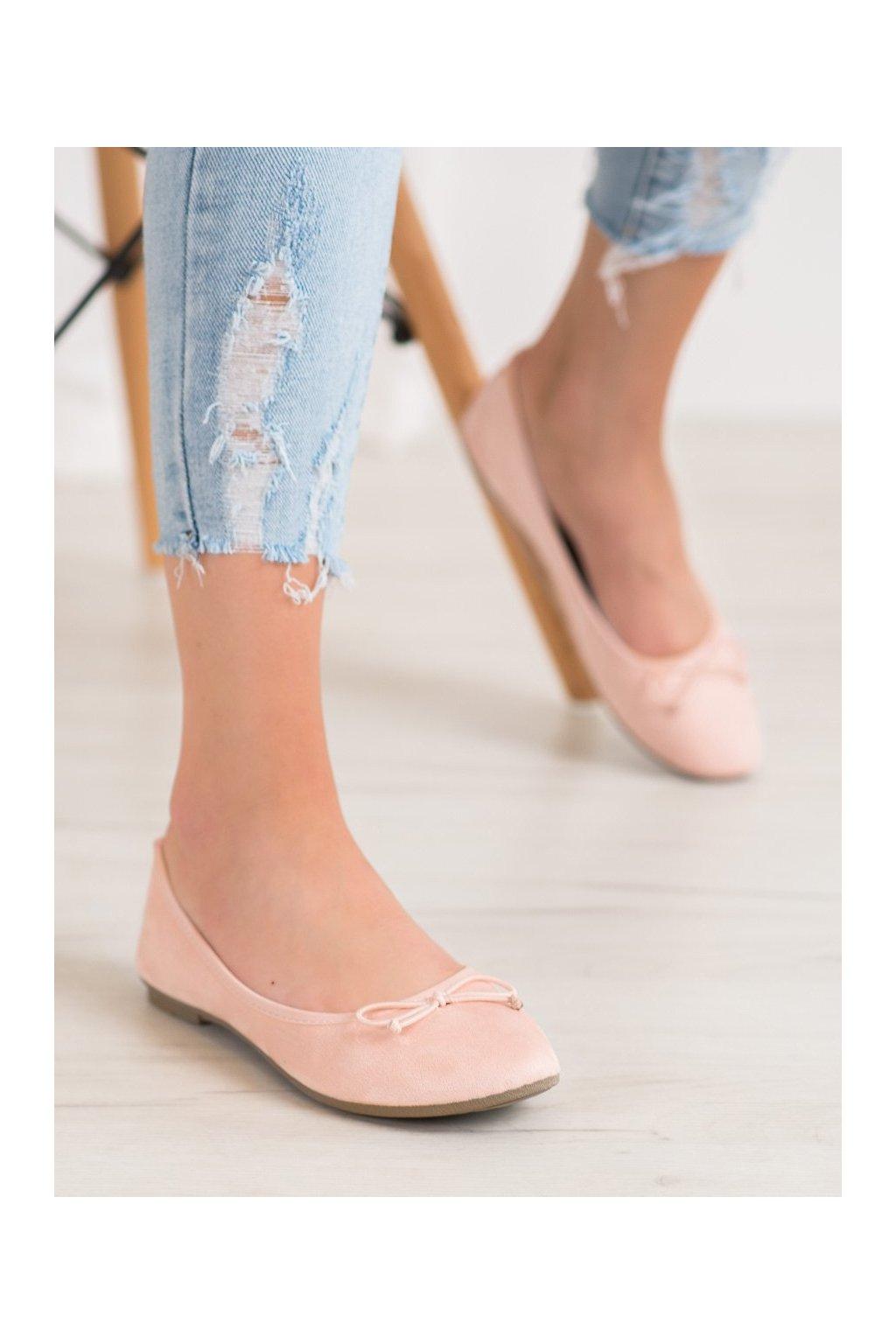 Ružové dámske balerínky Diamantique kod 98-32NU