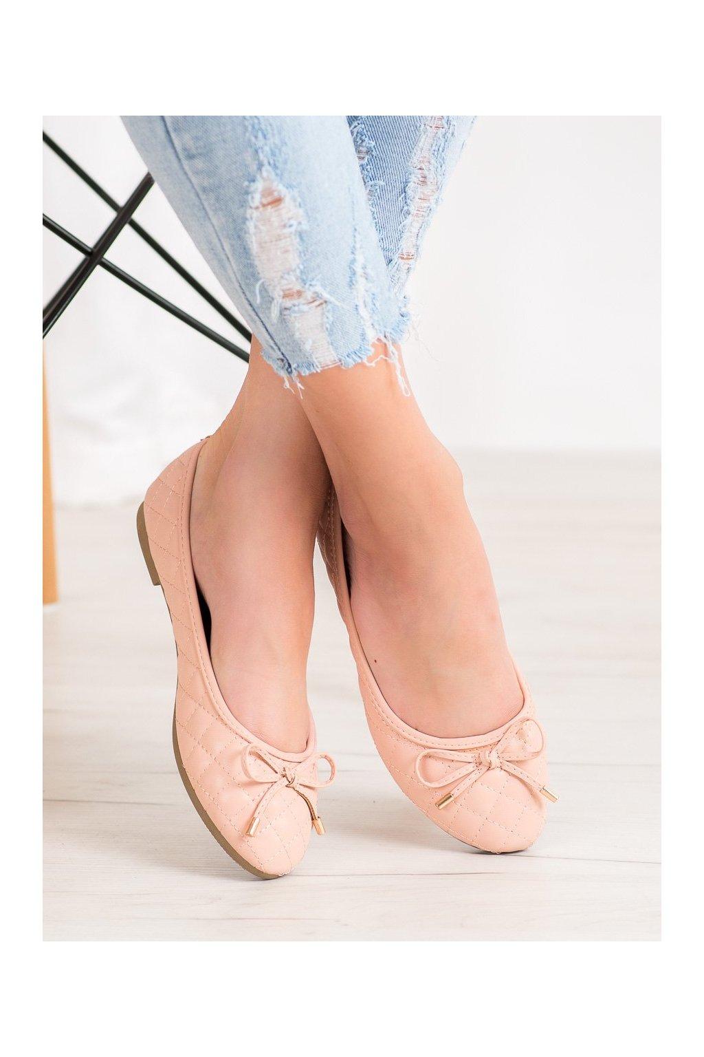 Hnedé dámske balerínky Diamantique kod YSD827NU