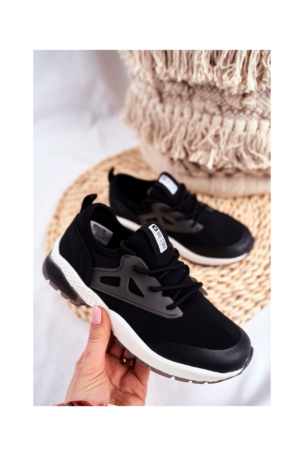 Detské tenisky farba čierna kód obuvi FF374147 BLK